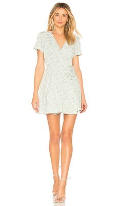 Shop for J.O.A. Wrap Dress in Mint at REVOLVE. Free 2-3 day shipping and returns, 30 day price match guarantee.