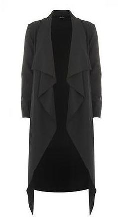 Womens charcoal fever fish grey check waterfall jacket from Dorothy Perkins - £35 at ClothingByColour.com