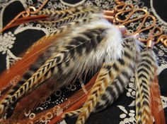Grizzly Saddle Feather copper wire wrap necklace on sale...