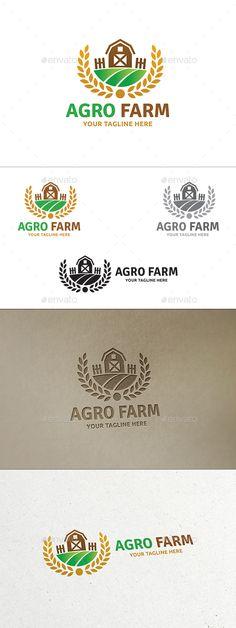 Agro Farm - Logo Design Template Vector #logotype Download it here: http://graphicriver.net/item/agro-farm-logo/14049642?s_rank=269?ref=nesto