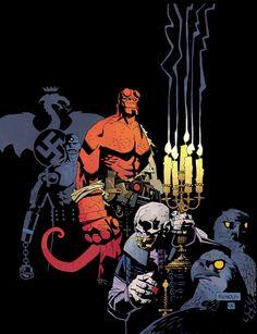 Hellboy by Mike Mignola I love that Hellboy hates nazi's soooo much!