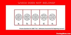 Can your child determine which doesn't belong? #AABL #practice