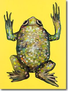Frog in Gloss Yellow by Eli Halpin