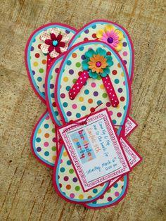 Flip Flop Birthday Invitation by jodigilbert2004 on Etsy, $2.50