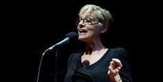 Joan telling her story at The Moth.