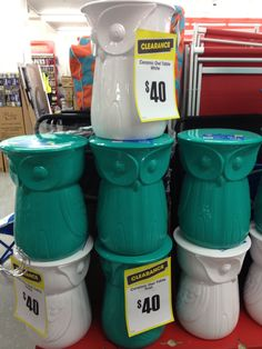 Great price on these owl stools from The Reject shop now on sale for $25