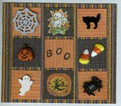 Halloween card using inchies