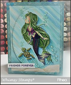 Let's Be Mermaids! - New Release by Whimsy (Passionate Paper Creations) Metal Crafts, Diy Crafts, Sunnies Studios, Penny Black Stamps, Whimsy Stamps, Mermaid Coloring, Heartfelt Creations, Copic Markers, Clear Stamps