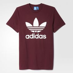 Adidas Originals Trefoil Miesten T Paita Bordeaux Addidas Shirts, Camisa Nike, Maroon Shirts, Tee Shirt Homme, Ellesse, Adidas Outfit, Personalized T Shirts, Custom T, Pull