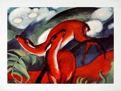 franz marc biography and gallery. Franz Marc was associated with August Macke and Wassily Kandinsky in the Blaue Reiter. Franz Marc, Deer Wall Art, Painting Prints, Art Prints, Red Deer, Abstract Painters, Abstract Art, Stretched Canvas Prints, Animal Paintings
