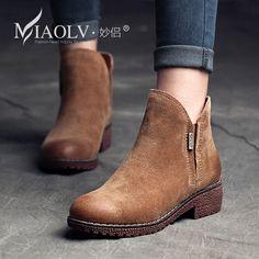 trova altre Informazioni circa Autunno nuovo arrivo della donna stivali  tacco piatto femminile genuino stivali di