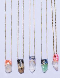 - ☆ ☼ ☾  quartz crystal necklaces. ☽☼ ☆ -