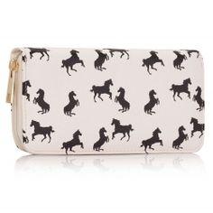 Peňaženka s potlačou Horse, biela 15983