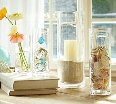 Aegean Clear Glass Vase Medium & 10 Ways to Decorate With Glass Cylinders   Pinterest   Large glass ...