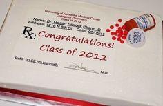 pharmacy school graduation cake - Google Search