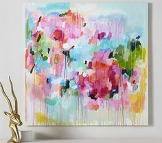 Floral Color Pop Canvas Wall Art