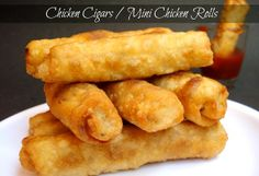 Chicken Cigars serve as a perfect appetizer for a large group of friends!  #MiniMoversRecipe #WhatsCooking #FreeBreakfast #TroopRecipe #ChickenCigars