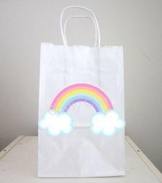 PASTEL Rainbow Goody Bags, Rainbow Favor Bags, Rainbow Gift Bags, Rainbow Goodie Bags Rainbow Bag, Rainbow Theme, Goody Bags, Favor Bags, Small Gift Bags, Small Gifts, Fire Cupcakes, Rainbow Party Favors, Alien Party