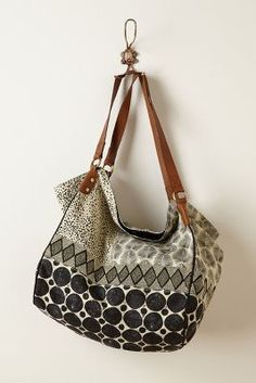 Beaded Geo Collage Bag