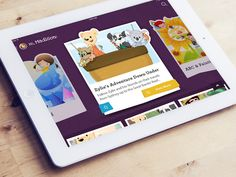 SmartyPal iPad App designed by Natalie Armendariz for Funsize. Connect with them on Dribbble; the global community for designers and creative professionals. Tablet Ui, Kids Tablet, App Ui Design, Game Design, Web Design, Book Design Inspiration, Game Change, Lego Projects, Toddler Fun