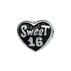 151249 Sweet 16 Bead in Sterling Silver. Weight- 4.24g