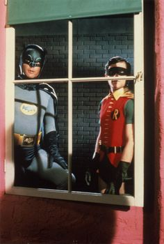 Adam West and Burt Ward as Batman and Robin. ®....#{T.R.L.}