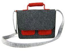 Messenger Handbag Felt purse Bag for women by Torebeczkowo on Etsy