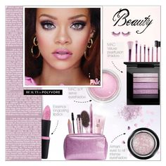 """BEAUTY : I love Pink!!!!!"" by alves-nogueira ❤ liked on Polyvore featuring beauty, NARS Cosmetics, Essence, MAC Cosmetics, MAKE UP FOR EVER, Giorgio Armani, Yves Saint Laurent, Barry M and Estée Lauder"