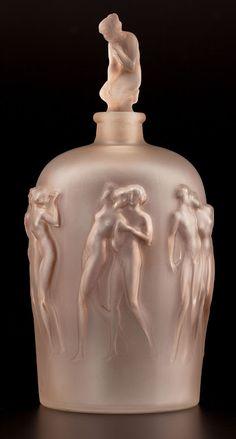 Rene Lalique (1860 - 1945) - Art Nouveau Perfume Bottle