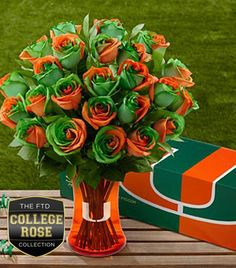 LOVE THEM!!! I'd take these over red roses any day!!!!     The FTD® University of Miami Hurricanes® Rose Bouquet