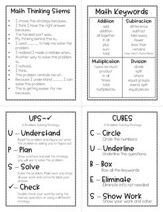 Mini Math Anchor Charts for Upper Elementary - Bildung Maths Guidés, Math Vocabulary, Geometry Vocabulary, Math Math, Math Fractions, Math Games, Mental Maths, Gcse Math, Math Test