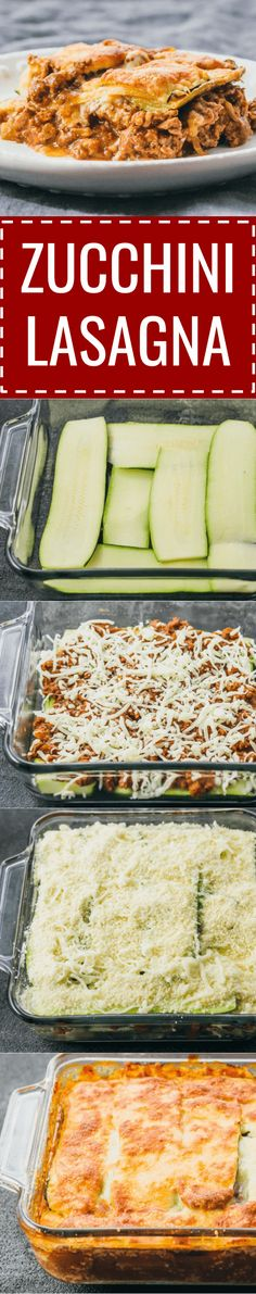 This easy zucchini lasagna is a great low carb and healthy alternative to your typical lasagna. keto / low carb / diet / atkins / meals / recipes / easy / dinner / lunch / foods / healthy / gluten free / easy / recipe / healthy / with meat / noodles / bes http://eatdojo.com/healthy-vegan-recipes-dinner-fast-cooking/