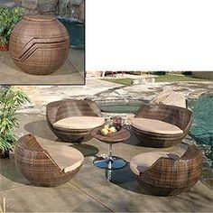 retro modern patio furniture - Google Search