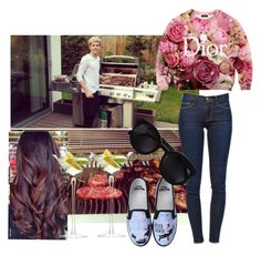 """""""BBQ with Niall and friends"""" by eimear213 ❤ liked on Polyvore featuring Frame Denim, Disney, Karen Walker and LSA International"""