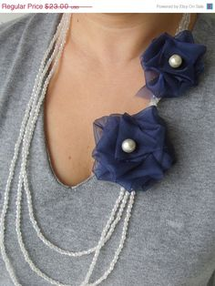 ON SALE Winter Accessories - bridesmaid accessories - statement jewelry - holiday accessories - bib necklace -modern jewelry