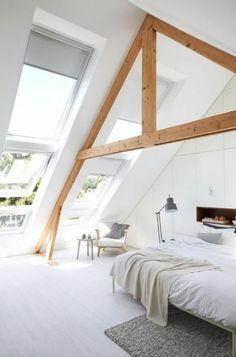 Foto 28 / 35 : Dachschrägen im Schlafzimmer gestalten