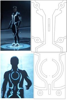 LED-lit Tron Suit : 13 Steps (with Pictures) - Instructables Costume Tutorial, Cosplay Tutorial, Cosplay Diy, Tron Costume, Led Costume, Cool Costumes, Cosplay Costumes, Halloween Costumes, Halloween Ideas