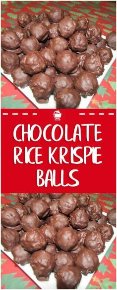 Easy Chocolate Rice Krispie Balls A sweet friend made these for us during the holidays. They were such a big hit that we have made them many times since. Perfect for a party or movie night. Reis Krispies, Delicious Desserts, Yummy Food, Healthy Food, Candy Cookies, Homemade Candies, Holiday Recipes, Family Recipes, Sweet Recipes
