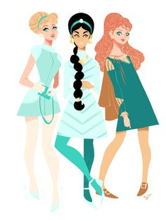 Would you possibly consider doing stylised Disney princesses? I've seen your classic versions of some of them but I'm sure your 60's style w...