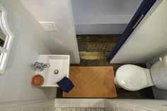 The Indigo Tiny House from Driftwood Homes USA. A tiny house on wheels with two bedrooms. Two Bedroom Tiny House, Tiny House Swoon, Tiny House Bathroom, Tiny House On Wheels, Tiny House Design, Small Bathroom, Bathroom Showers, Bathroom Storage, Bathroom Mirrors