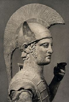 The head of a bronze statue of an Etruscan warrior, from about 300 BCE. The Etruscans lived in Etruria, central Italy from the 8th to the 4th centuries BCE. Although eventually dominated by the Romans, they enjoyed great power in the 6th century BCE. (Image © Philip Sauvain Picture Collection) Image 3 of 3