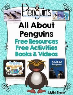 LMN Tree: All About Penguins: Free Resources, Free Activities, Books, and Videos