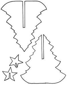 Árvore de natal de papel com molde - Pra Gente Miúda