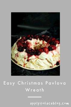 This Christmas Pavlova is incredibly delicious. A pudding that looks as good as it tastes too. This is a stunning addition to any table, Christmas or not. A perfect alternative christmas dessert. Easy and make ahead recipe. #applytofaceblog #pavlovarecipe #pavlovawreath #christmaspavlova #meringue #meringuedessert Christmas Pavlova, Christmas Desserts, Christmas Recipes, Raspberry Roulade, Raspberry Pavlova, Make Ahead Desserts, Easy Desserts, Meringue Desserts, Pavlova Recipe