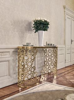 Contemporary console tables are essential to design pieces in any modern interior. This modern furniture is often found in entryways and hallway, the support fo Italian Furniture, Luxury Furniture, Furniture Design, Geometric Furniture, Art Furniture, Furniture Styles, Contemporary Furniture, Entryway Furniture, Steel Furniture