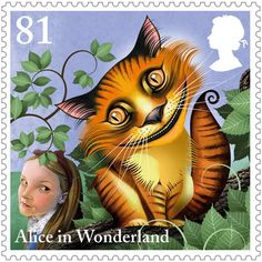 Stamp illustrated by Grahame Baker-Smith, 2015, 150th Alice's Adventures in Wonderland, Royal Mail UK.