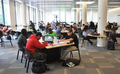 New student space in the McLaughlin Library at U of G means more space for students to meet, study and plug in.