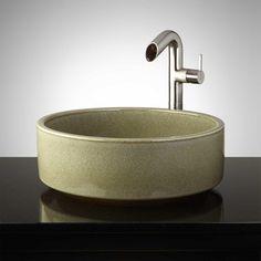 Oglesby Hand-Glazed Pottery Vessel Sink - Toasted Sage