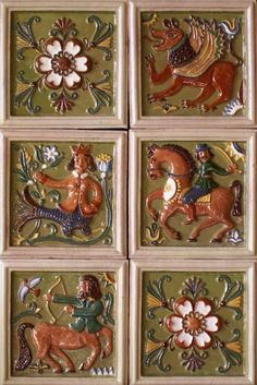 Russian Stove Tiles