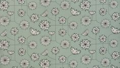 Dandelion Mobile Mist Green with White Fabric